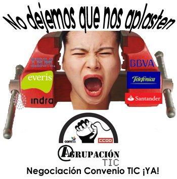 No dejes que nos aplasten: ¡negociación convenio TIC ya!